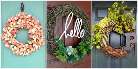 Diy Wreaths For Front Door 10 Diy Summer Wreath Ideas Outdoor Front Door Wreaths