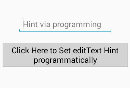 android edittext layout weight programmatically hint programmatically android exles