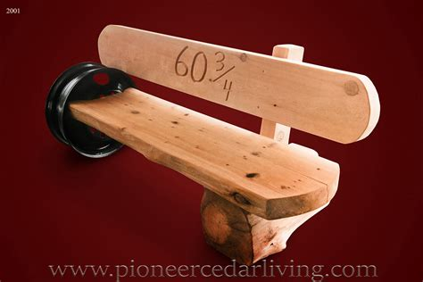 cedar log bench pioneer cedar living memorial log bench pioneer cedar living