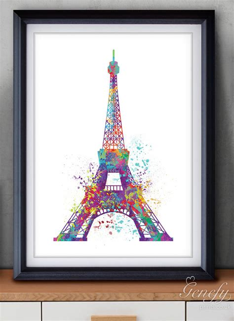 eiffel tower wall decor eiffel tower watercolor poster print wall decor
