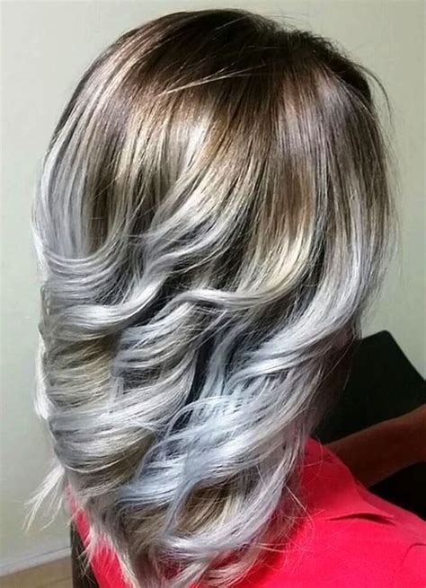 silver highlighted hair styles 20 cool silver white highlights hair ideas hairstyles