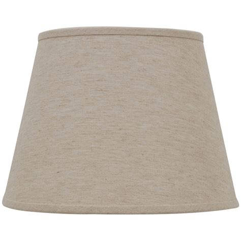 natural linen drum l shade shop allen roth 11 in x 15 in natural linen fabric drum
