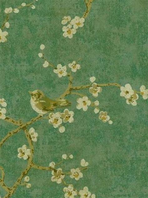 wallpaper remnants wallpaper remnant 27 quot w x 31 quot gold birds tree asian