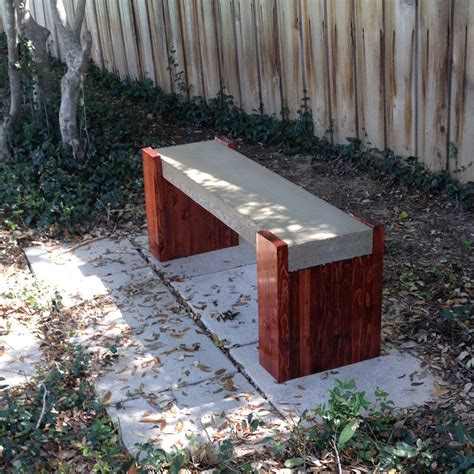 concrete bench diy my first try at concrete a modern concrete and wood bench