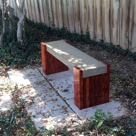 concrete bench diy outdoor concrete bench plans furnitureplans