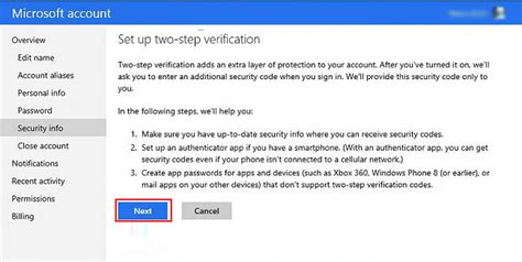 yahoo email verification code not received turn on off two step verification on hotmail gmail and