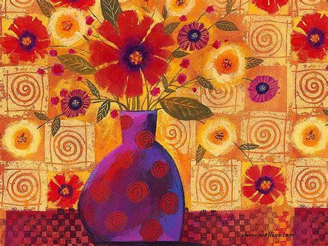wallflowers bold red flowers in vase 3 wallcoo net
