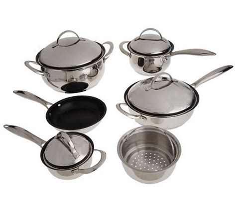Satu Set Oxone Eco Cookware eco ware stainless steel nonstick 10 cookware set page 1 qvc