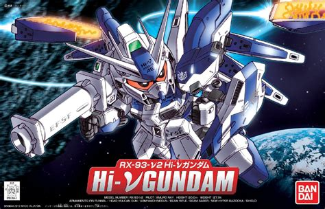 Sd Gundam Rx 93 Hi V Recoulor Papercraft bb sd 384 rx 93 v2 hi v hi nu gundam model kit bandai toyarena
