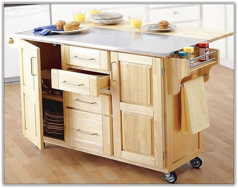 rolling kitchen island with trash bin home design ideas