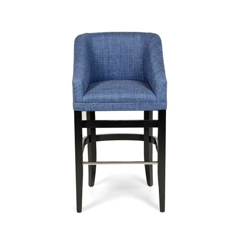 blue bar stools kitchen furniture modern bar stool design come with upholstered seat cover