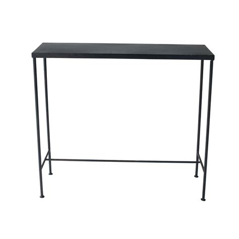 industrial edison table l metal industrial console table in black w 90cm edison