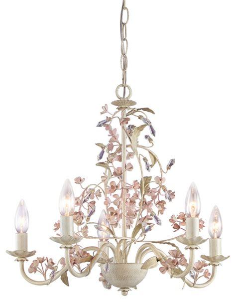 Laura Ashley Hbls0571 Blossom 5 Light Chandelier Antique Ivory Chandelier