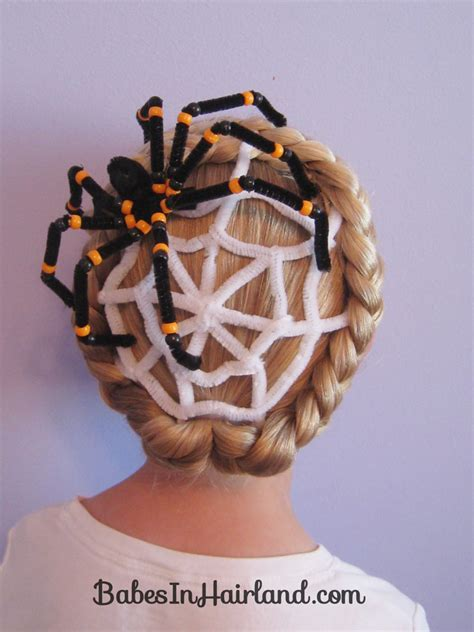 spiderweb hairstyle for in hairland spiderweb hairstyle hairstyles hair day