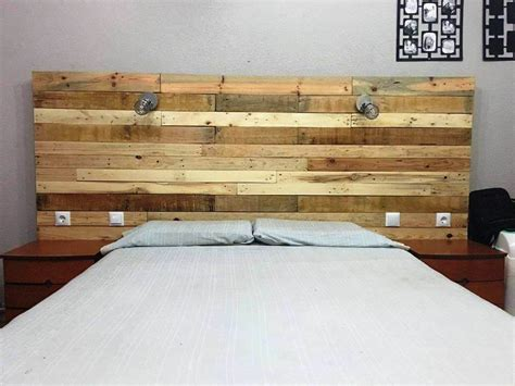 wood headboard with lights pallet headboard with lights