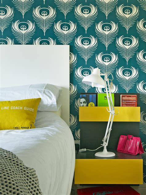 turquoise bedroom wallpaper photos hgtv