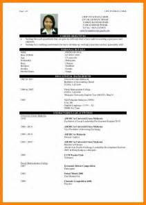 Sle Resume by 4 Cv Sle Fresh Graduate Rn Cover Letter