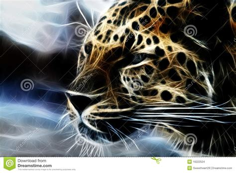 abstract cheetah art stock illustration image  cheetah