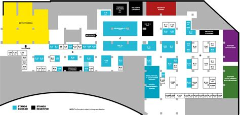 airport floor plan airport technology services aci airport exchange 2016