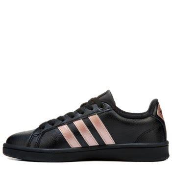 adidas cloudfoam advantage stripe sneaker blackrose gold