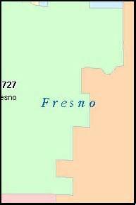 fresno california ca zip code map downloads