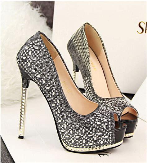 heels bling rhinestone platform high
