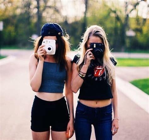 best friends, bestfriends, girls, polaroid, polaroid
