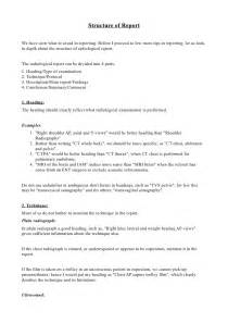 Radiology Report Template Examples Of X Ray Reports Pictures To Pin On Pinterest