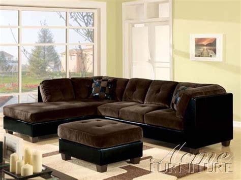 Deltona Ultra Plush Sectional Sofa In Brown Microfiber And