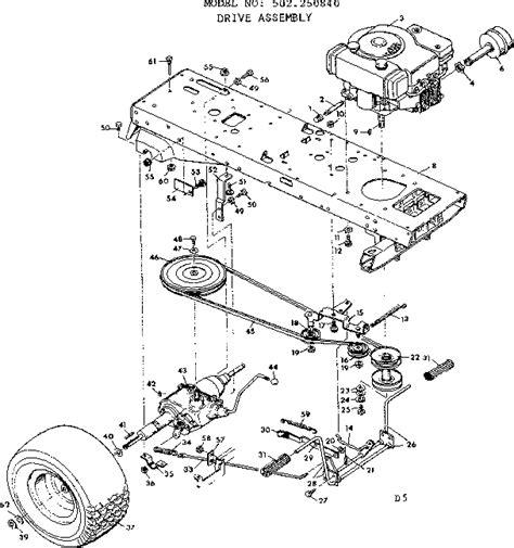 sears lawn tractor parts diagram craftsman sears lawn tractor jackshaft assembly parts