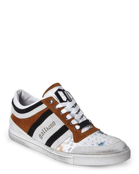 galliano sneakers lyst galliano light grey broken in sneakers in gray