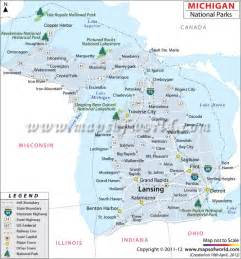 Michigan State Park Map by Michigan National Parks Us National Parks Pinterest