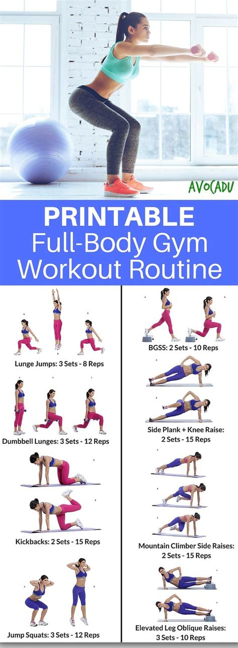 printable exercise program for beginners this printable workout routine comes with easy to follow
