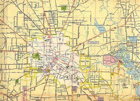 road map of houston texas houston maps houston past
