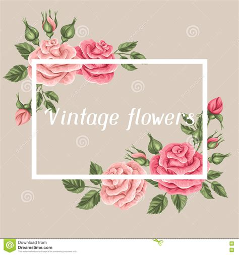 imagenes de flores para invitaciones fondo con las rosas del vintage flores retras decorativas