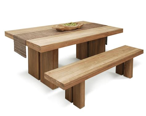 tables with benches for kitchens puji contemporary kitchen furniture wooden benches