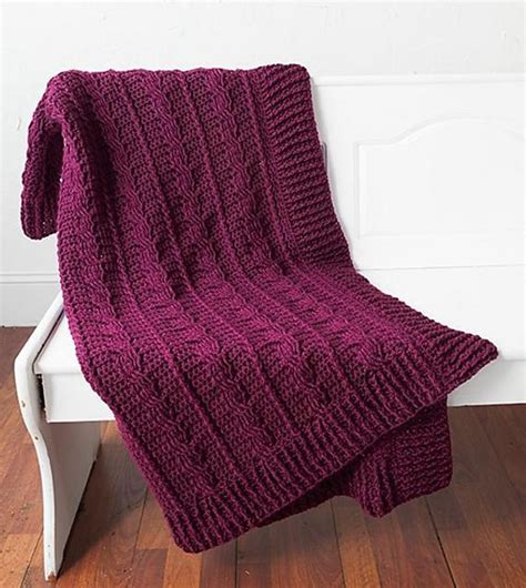 Snowberry Scarf snowberry cables afghan crochet pattern by brenda bourg