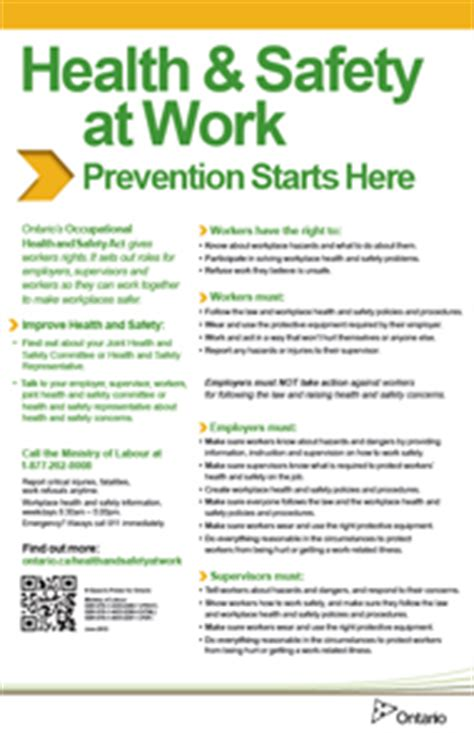 health & safety at work: prevention starts here | ontario