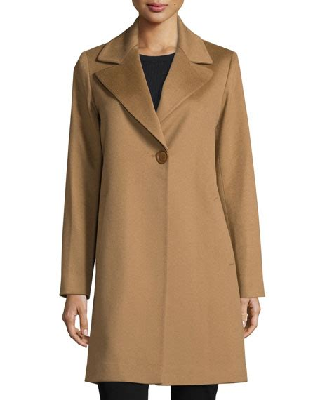 Single Button Coat fleurette wool single button coat vicuna