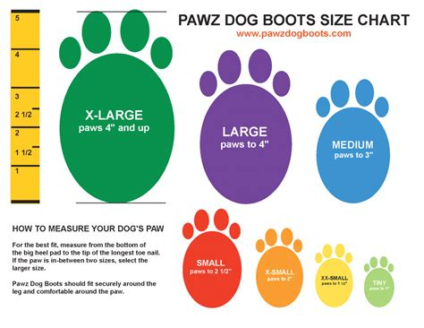 puppy paw size calculator tripawds gear 187 pawz traction boots protect tripawd