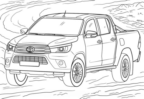 toyota car coloring page toyota hilux coloring page free printable coloring pages