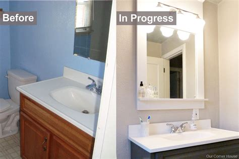 cheap bathroom makeover inexpensive bathroom refresh our corner house