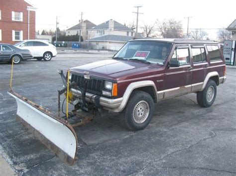 Jeep With Snow Plow For Sale Sell Used 1993 Jeep 4 0l Meyer Snow Plow In La