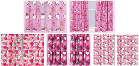 hello kitty bedroom curtains hello kitty pink curtains 66 quot x 54 quot 66 quot x 72 quot drop girls