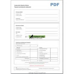 cis invoice template cis single payment deduction statement template