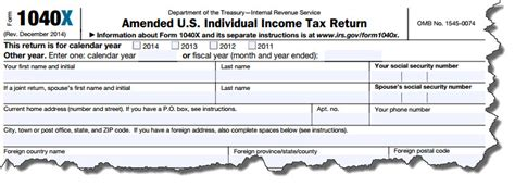 How to File an Amended Tax Return « Strategic Tax Planning ... M 1040x