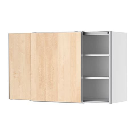 Kitchen Wall Cabinet Doors Faktum Wall Cabinet With Sliding Doors Nexus Birch Veneer 120x70 Cm Ikea