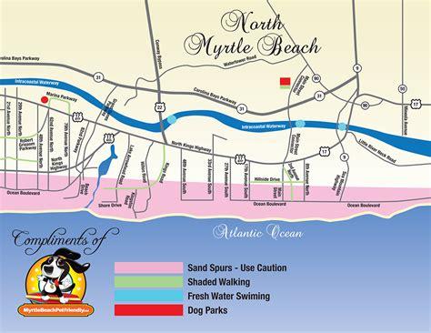 map of myrtle myrtle pet friendly maps
