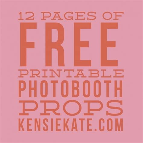 free printable wedding photo booth props pdf 17 best images about photo booth diy ideas on pinterest