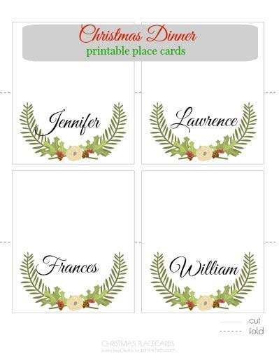 printable place cards pinkwhen